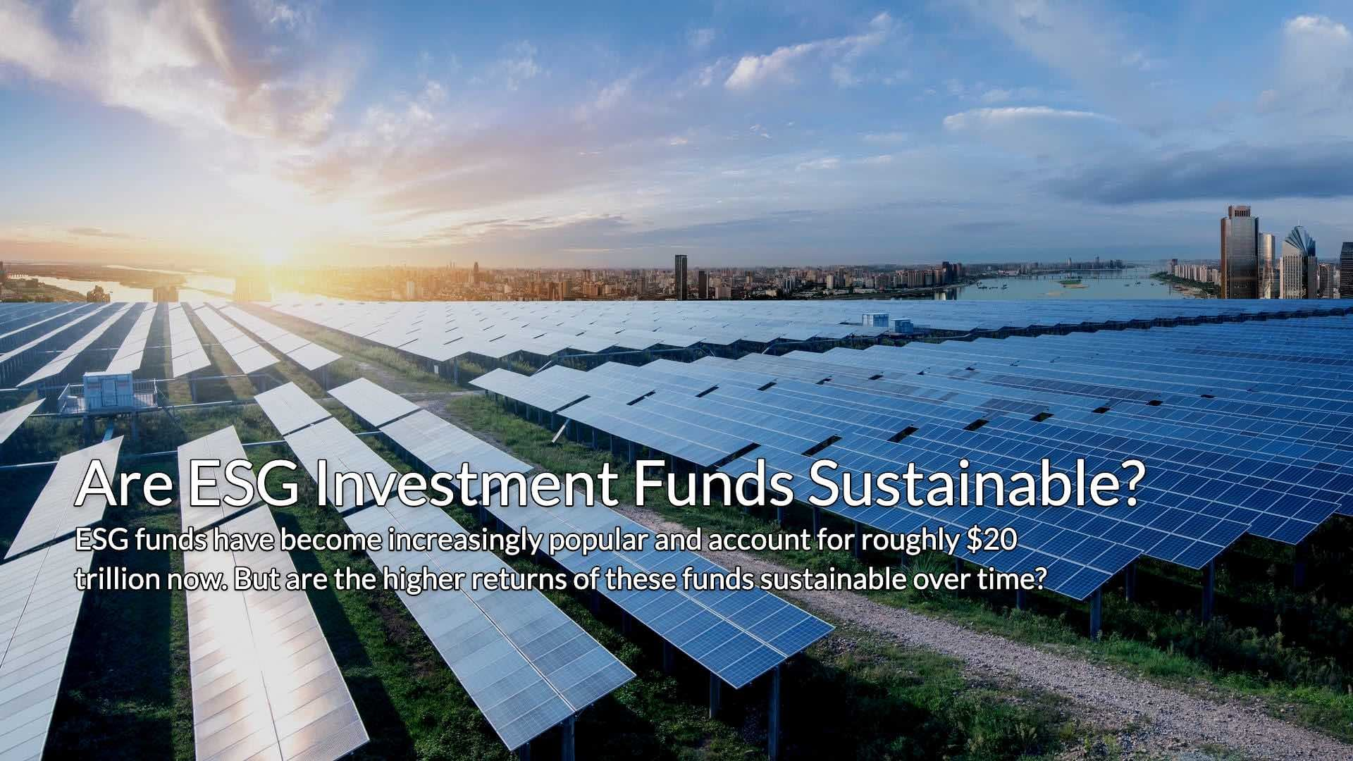 Are ESG investment funds Sustainable for those beginning to invest in their 20s?